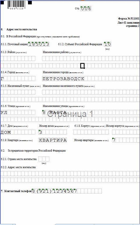 р11001 образец заполнения стр. 6