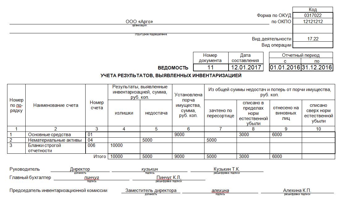 ИНВ-26 образец заполнения